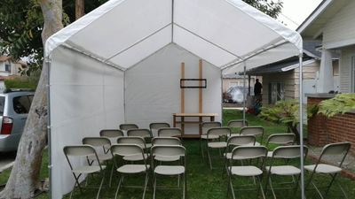 10 Ft X 20 Canopy Tent Rental Setups