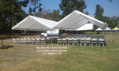 20 ft x 40 ft Canopy or Tent Rental Setups & 20u0027 x 40u0027 Canopy Tent | Party Canopy Rentals | Los Angeles CA ...