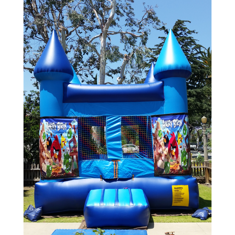 Blue Bounce House Bouncy Castle Rental In Los Angeles, CA - Big Blue Sky Party Rentals - www.bigblueskyparty.com