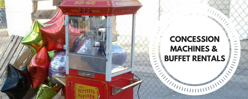 Concession Machines, Buffet Serving & Bar Rentals