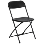 Black Folding Party Chairs for Rent in Marina del Rey, CA