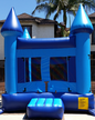 Our all-blue inflatable Blue Bouncy Castle kids party rental available for rent in Los Angeles.