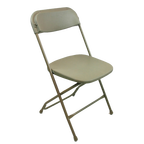 Beige Folding Party Chairs for Rent in Marina del Rey, CA