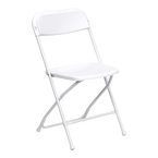 White Folding Party Chair Rentals in Marina del Rey, CA