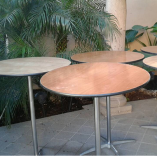 6 ft rectangular table rental outdoor party wedding for Cocktail tables rental los angeles
