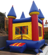 Our Mini Bouncy Castle jumper rental setup is perfect for small spaces.  Primary colors in this unit are red, blue and yellow.