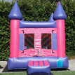 Our pink and purple inflatable bounce house available for rent and delivery in Los Angeles.