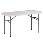 4 ft long rectangular party tables for rent in El Segundo for small spaces.