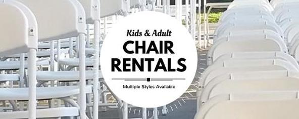 Party Chair Rentals for rent and delivery in Los Angeles.