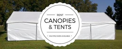 Party Canopy and Tent Rentals for rent and delivery in Los Angeles.