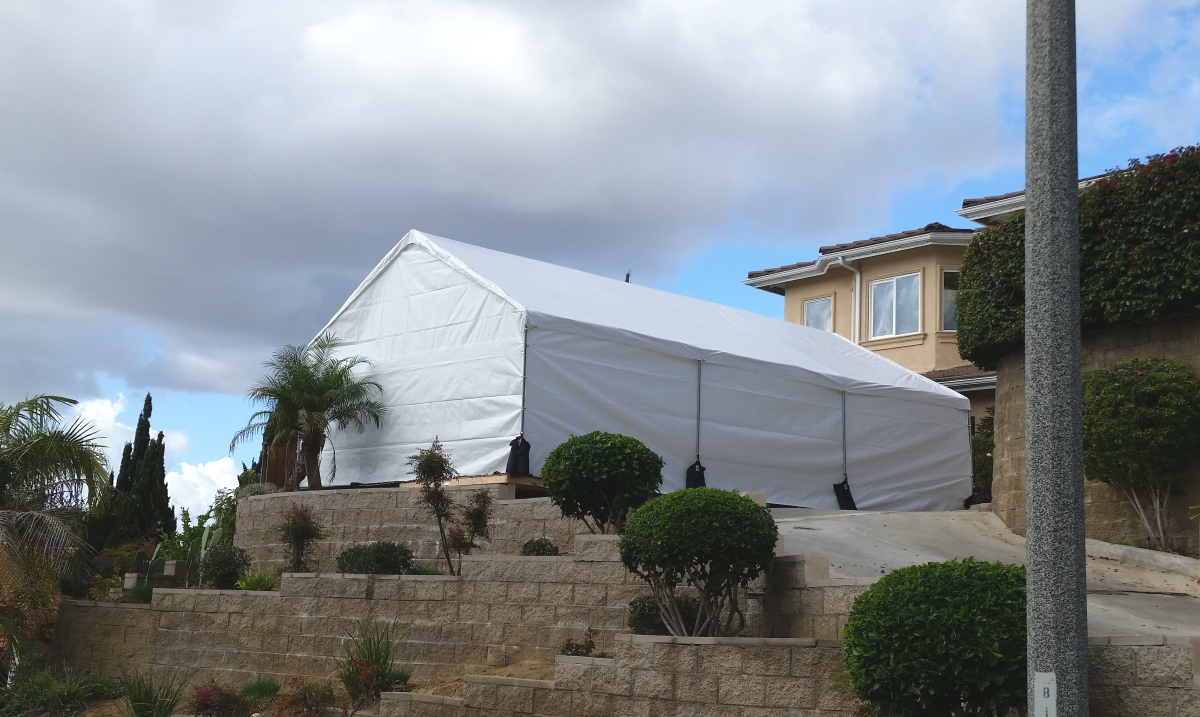20' x 30' Party Canopy Tent Rental Los Angeles - Big Blue Sky Party Rentals - www.bigblueskyparty.com