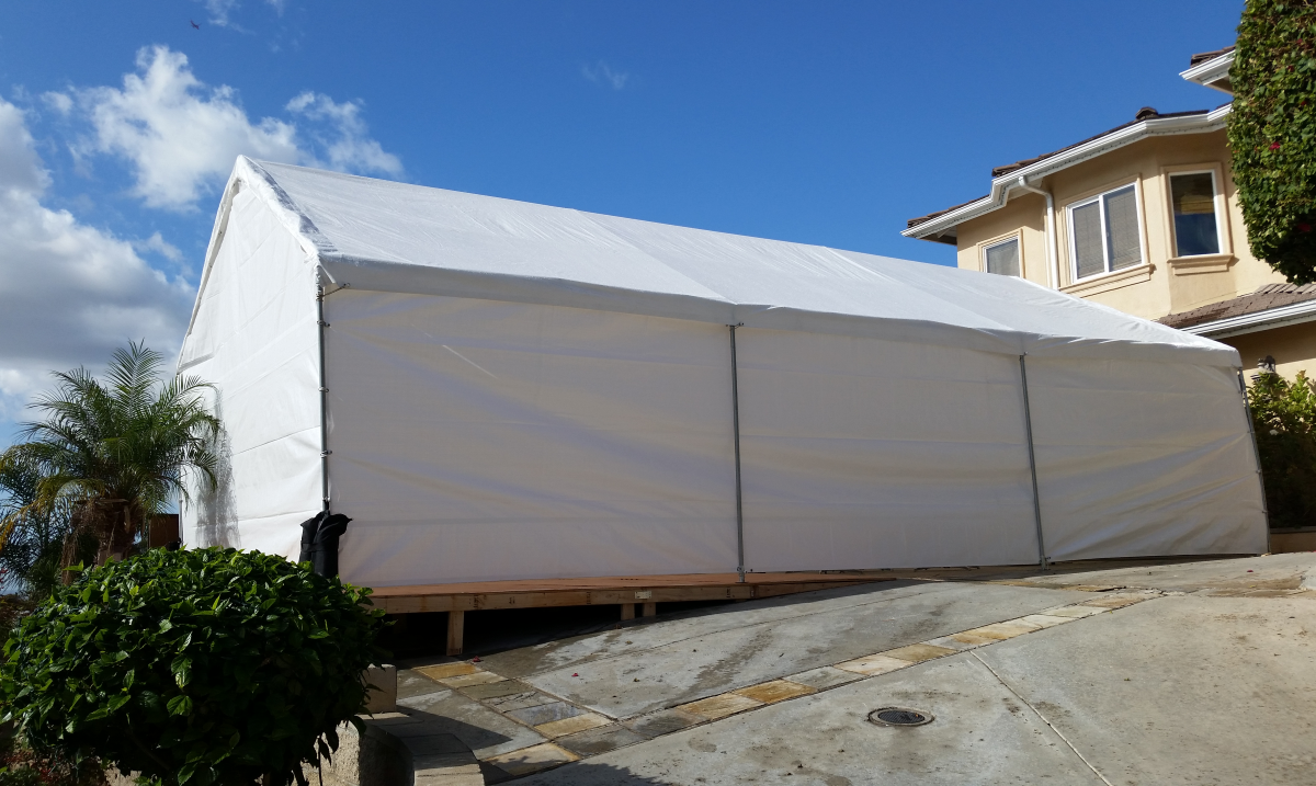20 x 30 Party Canopy with Sidewalls - Big Blue Sky Party Rentals - www.bigblueskyparty.com