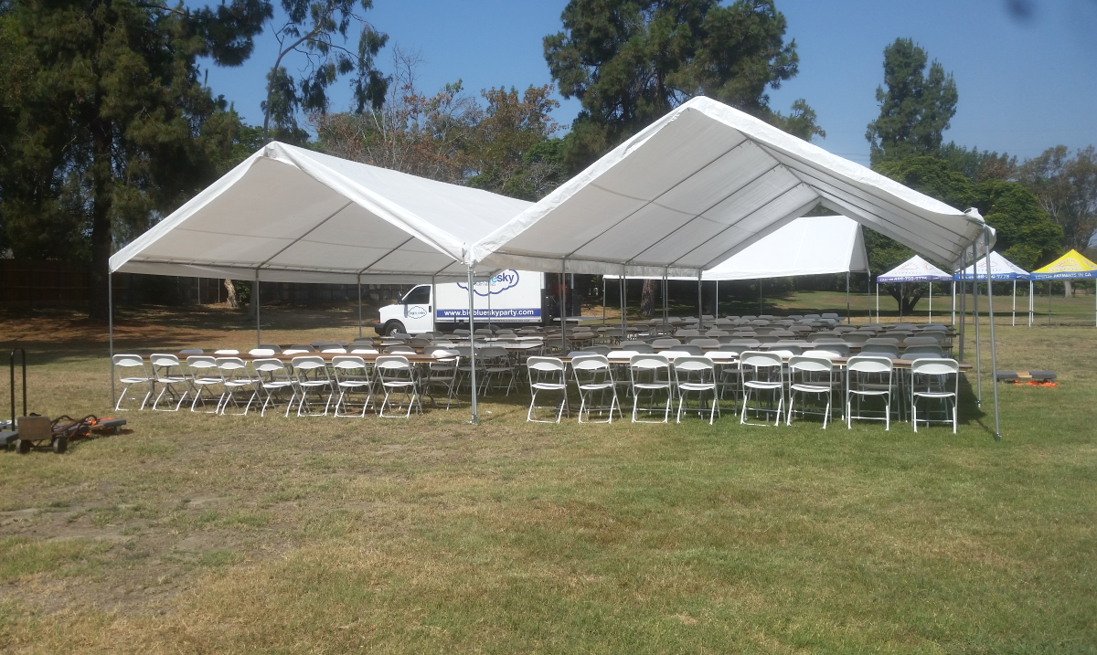 Party Canopy, Table and Chair Rentals in Los Angeles, CA - Big Blue Sky Party Rentals - www.bigblueskyparty.com