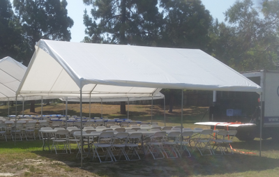 A 20' x 20' Canopy and Tent Rental available for set up in Los Angeles, CA.