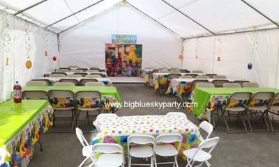 Kids Chair Rentals & Beige Folding Chair Rentals