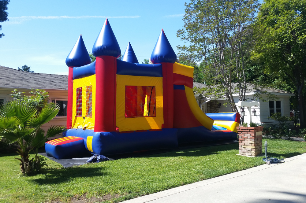 3 in 1 Castle Combo Rental in Los Angeles, CA - Big Blue Sky Party Rentals - www.bigblueskyparty.com