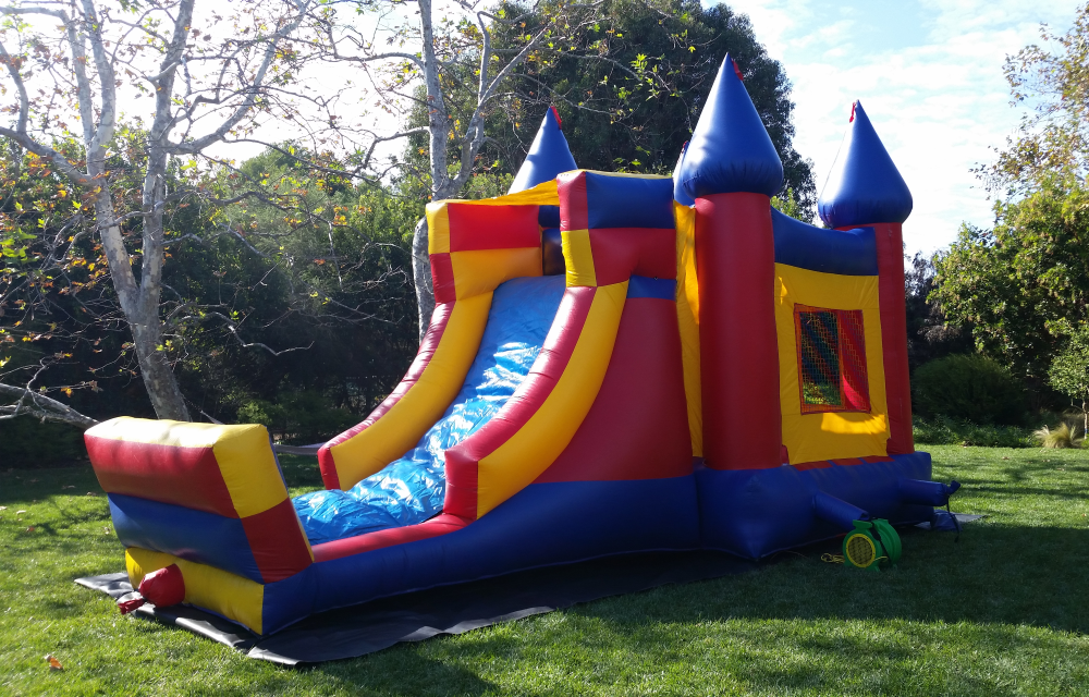 3 in 1 Combination Bounce House & Slide for rent in Los Angeles, CA - Big Blue Sky Party Rentals - www.bigblueskyparty.com