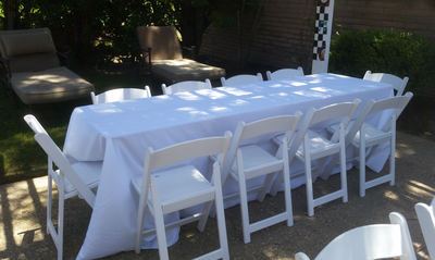 8 Ft Rectangular Wood Folding Table Rental Wedding