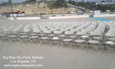 Folding Chair Rentals on the beach