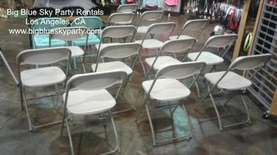 Beige Folding Chair Rentals