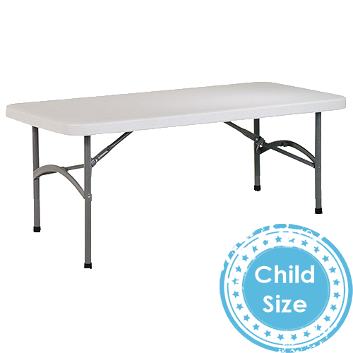 Kids Party Rentals:  Children's Rectangular Tables.