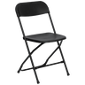 White Black Folding Party Chairs for conferences, memorial services, funerals or parties.  Available for rent in Los Angeles, Malibu, Calabasas, Santa Monica, Torrance and Redondo Beach.