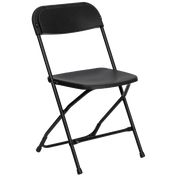 Black Folding Chair Rentals in Los Angeles