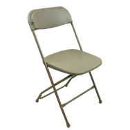 Beige party chairs for rent in Los Angeles.  A great, economical and
