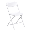 White Folding Party Chair Rentals in Los Angeles.