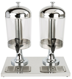 Stainless Steel Double Beverage Dispenser