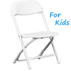 White Kids Folding Chair Rentals in Los Angeles