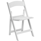 White Padded Folding Chairs in Los Angeles