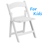White Padded Kids Folding Chair Rentals in Los Angeles