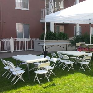 Kids White Folding Chair Rentals