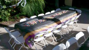 Kids White Folding Chair Rentals & Kids Table Rentals