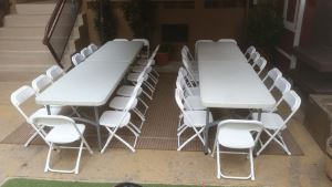Kids White Folding Chairs