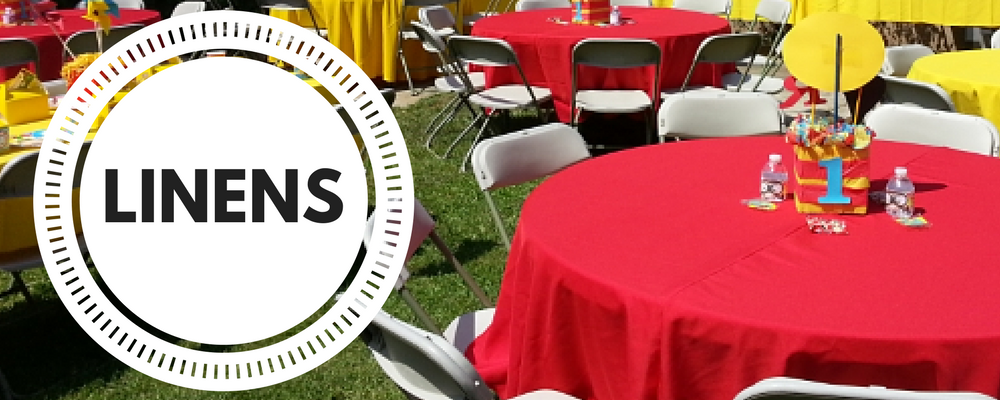 Linen Tablecloth & Chair Cover Rentals Culver City