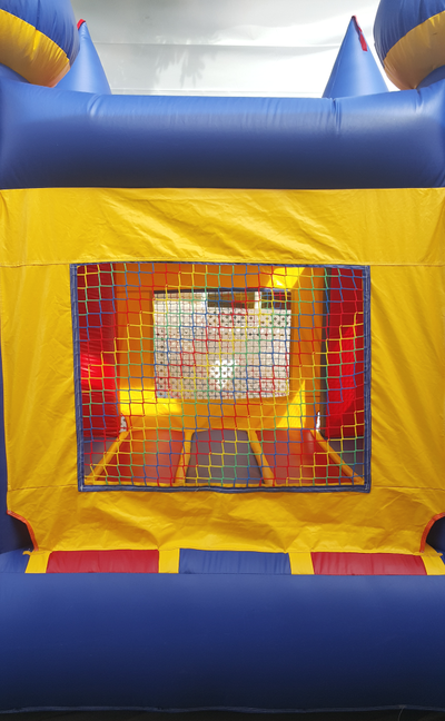 Inflatable Mini Bouncy Castle - View of window