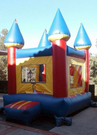 Inflatable Mini Bounce House Rental - Exterior Angle View