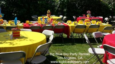 Chair Rentals with table and tablecloth rentals