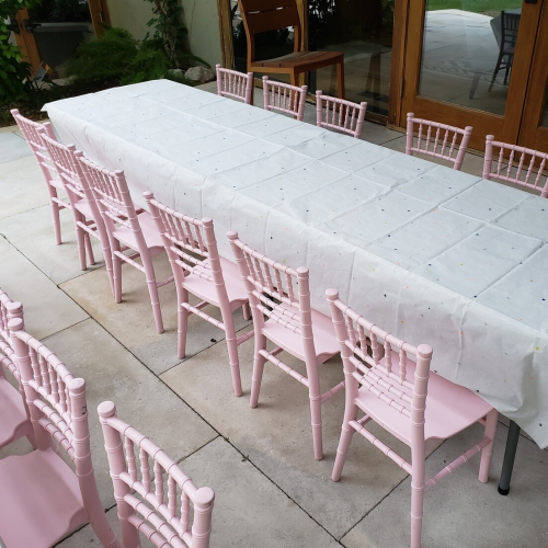 Pink Chiavari Kids Chair Rentals