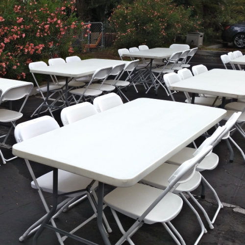 6 ft Rectangular Table Rental in Los Angeles