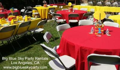Chair Rentals with Round Tables