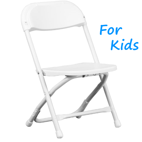 White Kids Folding Chair Rentals